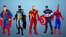 Minions Marvel Superheros #Ironman #Thor #Superman #Captain America #Batman Finger Family
