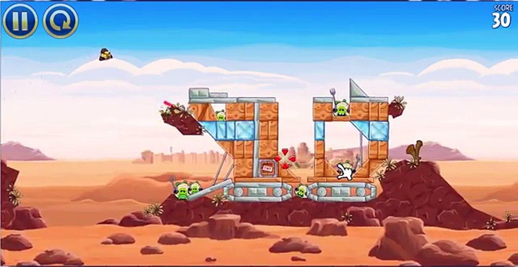 Angry Birds Star Wars. Злые птички звездные войны!!игровое видео
