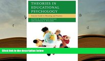PDF [Download] Theories in Educational Psychology: Concise