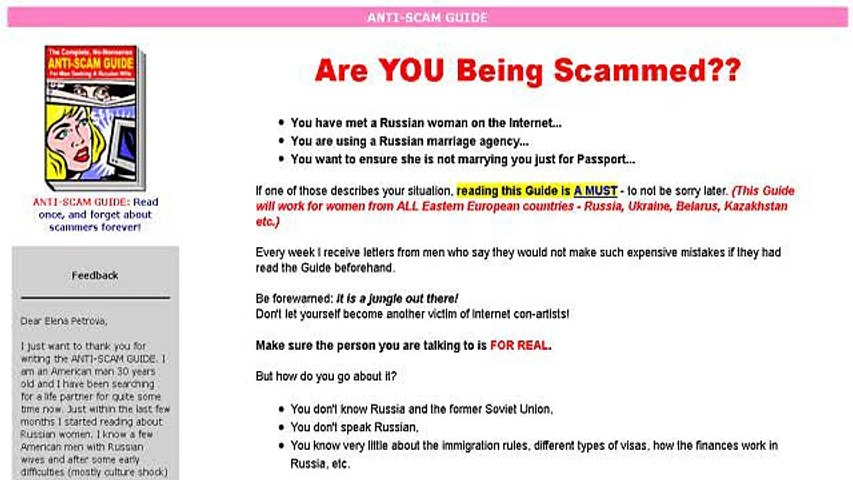 russian mail order bride scam
