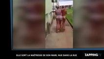 Une femme traîne la maîtresse de son mari nue dans la rue (vidéo)