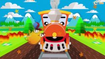 TRAINS FOR CHILDREN CARTOONS: Adventures with the Train | Train cartoon for children in English