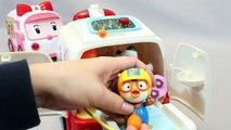 Pororo Poli Ambulancia Médico Kit de Juguetes pororo ambulancia robocar hospital juguete Мультики про машинки