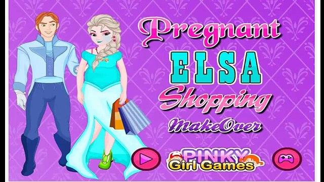Disney Frozen Games - Princess Elsa Pregnant Shopping - Frozen Video games for kids