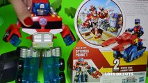 Transformers Rescue Bots Rescues!!! Chief Charlie Burns Rescue Cutter, Sawyer Storm Rescue Winch, Ni