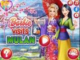 Barbie Visitas de Mulan de Disney Princesas Desgaste de China de Ropa de Vestir y Juegos de maquillar Fo