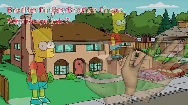The Simpsons Finger Family Song Rhyme Cartoon Bart Simpson Homer new