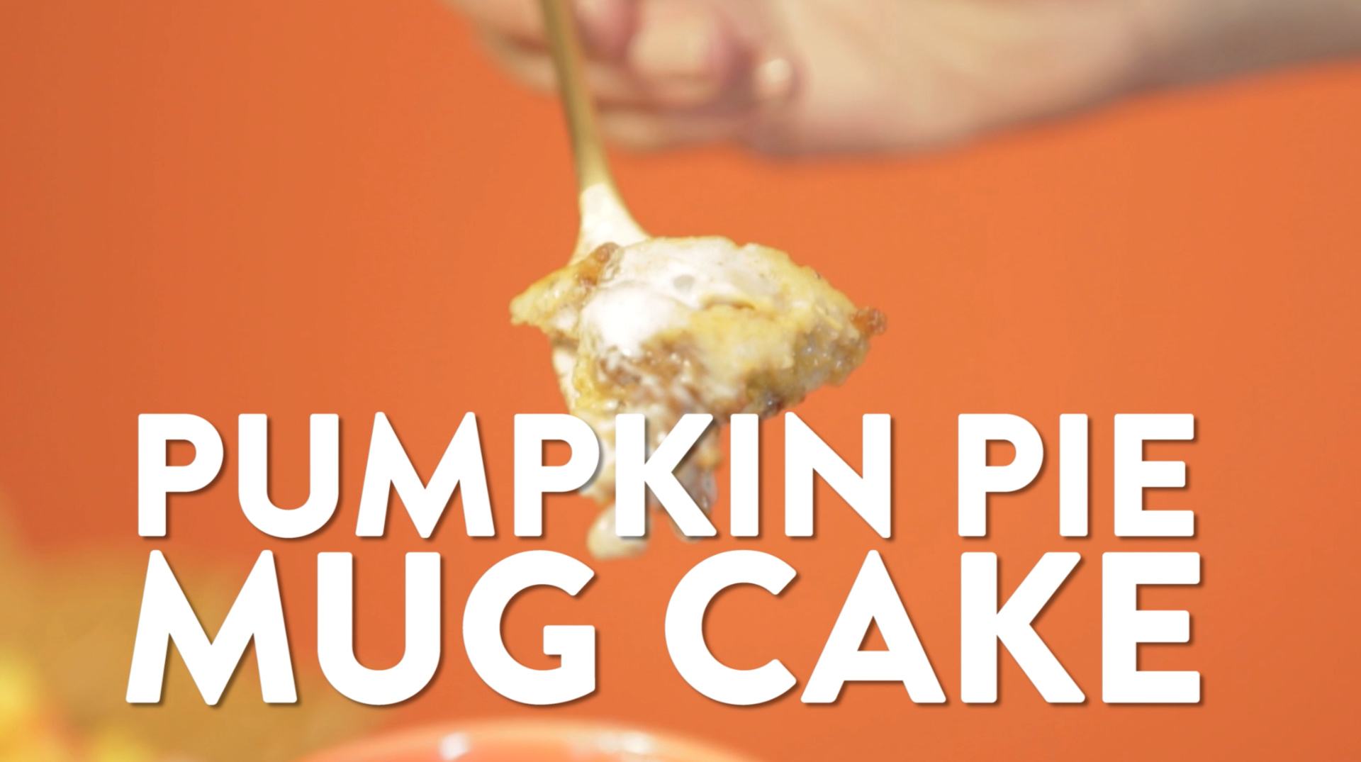 Try this AMAZING Pumpkin Pie Mug Cake