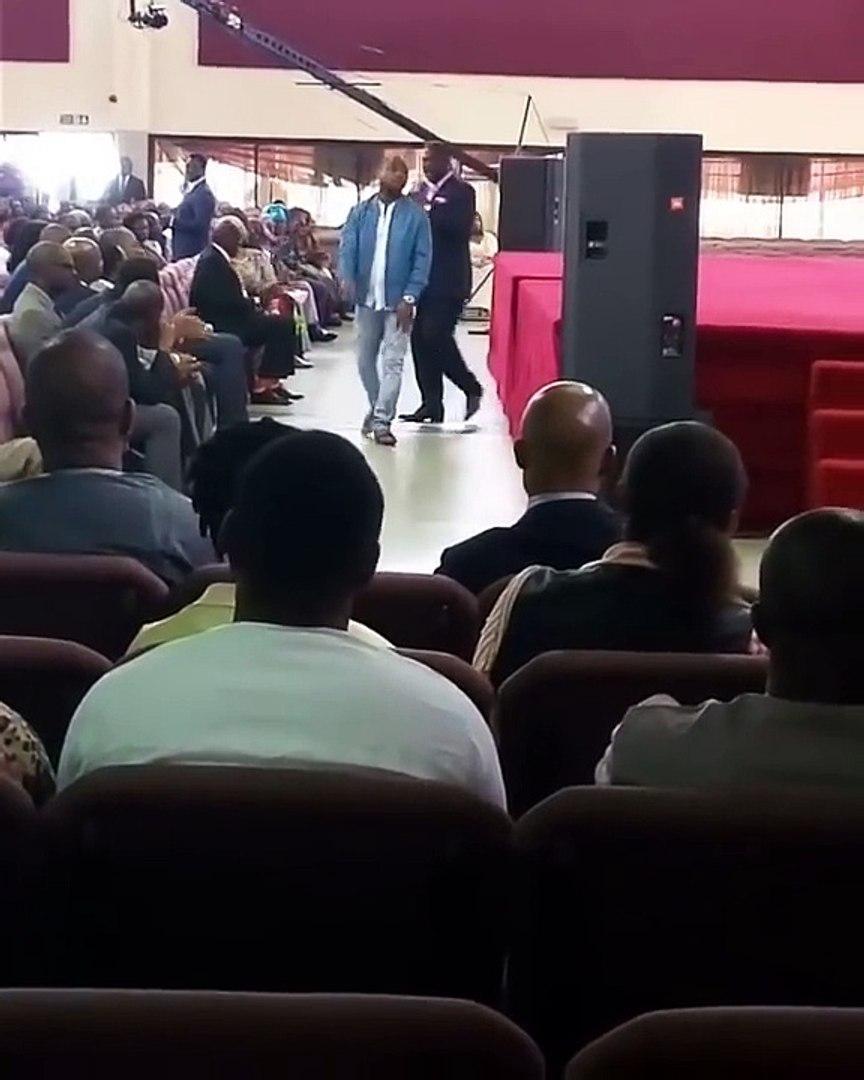Singer Davido shares testimony in church