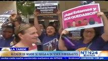 Confrontación entre los alcaldes Tomás Regalado y Carlos A. Gimenez de Miami por medidas a inmigrantes indocumentados