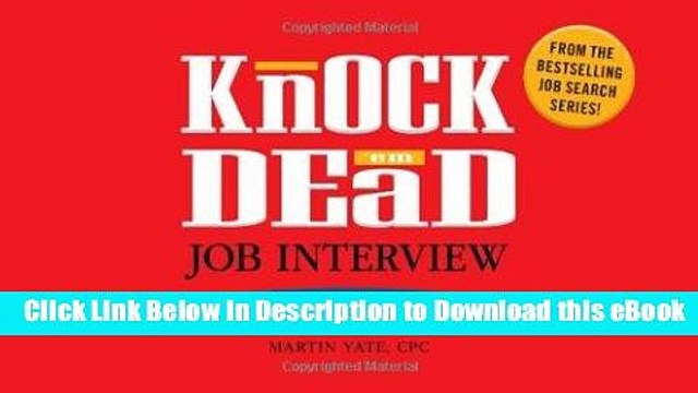 BEST PDF Knock  em Dead Job Interview Flash Cards: 300 Questions   Answers to Help You Land Your