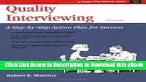 EPUB Download Crisp: Quality Interviewing, Third Edition: A Step-by-Step Action Plan for Success