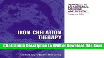 Books Iron Chelation Therapy (Advances in Experimental Medicine and Biology) Free Books