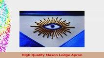 Masonic Blue Lodge PHA Master Mason Apron Size 14X16 For Masons 664353d4