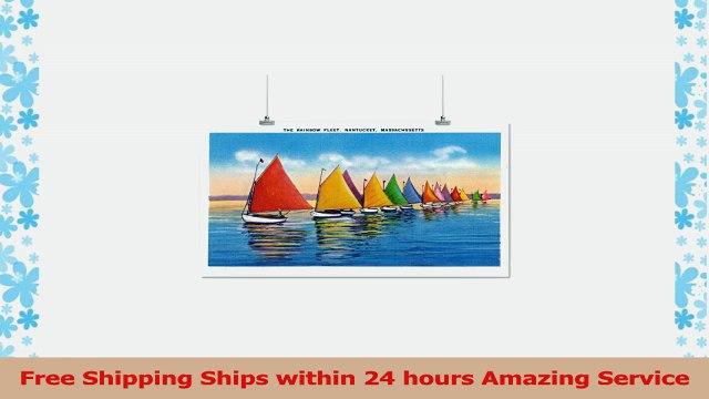 Nantucket Massachusetts  View of the Rainbow Sailboat Fleet 16x24 Giclee Gallery Print 5bdcf1fd
