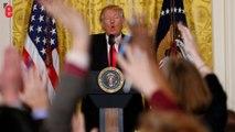 """""""Silence!"""": Trump s'en prend aux médias lors d'une conférence de presse"""