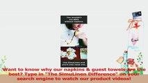 SimuLinen Dinner Napkins  GOLD  WHITE  Decorative Cloth Like  Disposable Large Napkins 80afe3de
