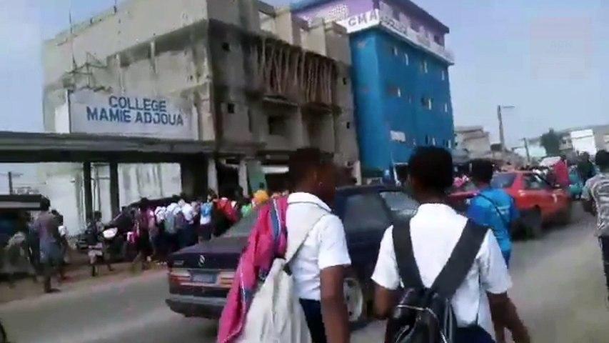 Des élèves de Yopougon en grève