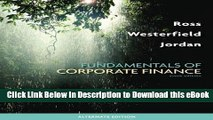 PDF [DOWNLOAD] Fundamentals of Corporate Finance Alternate Edition with Connect Plus Access Card