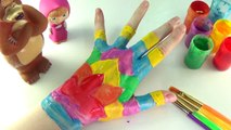 Body Painting Learning Colors Video for Children | Learn Colours Hand Body Color Paint