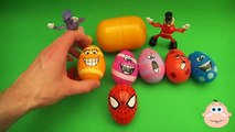 Kinder Surprise Egg Learn A Word! Spelling Play Doh Shapes! Lesson 10Teaching Letters Opening Eggs