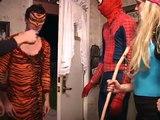 Spiderman vs Venom In Real Life Superhero Movie Spiderman goes black spiderman Pink SPIDER