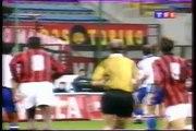 02.11.1995 - 1995-1996 UEFA Cup 2nd Round 2nd Leg AC Milan 2-1 Racing C Strasbourg