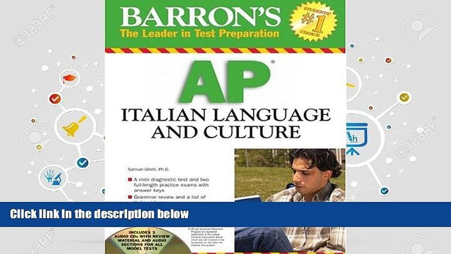 Download [PDF]  Barron s AP Italian Language and Culture: with Audio CDs Trial Ebook