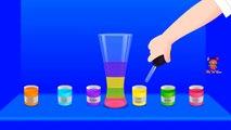 Los colores para los Niños Aprenden de Color Líquidos | Aprender los Colores Con el Color de los Líquidos | Colores de Agua f