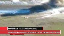 Mardin'de karayoluna tuzaklanan bir ton patlayıcı imha edildi