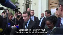 Colonisation : Macron veut «un discours de vérité historique»