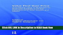 [Reads] Value First then Price: Quantifying value in Business to Business markets from the