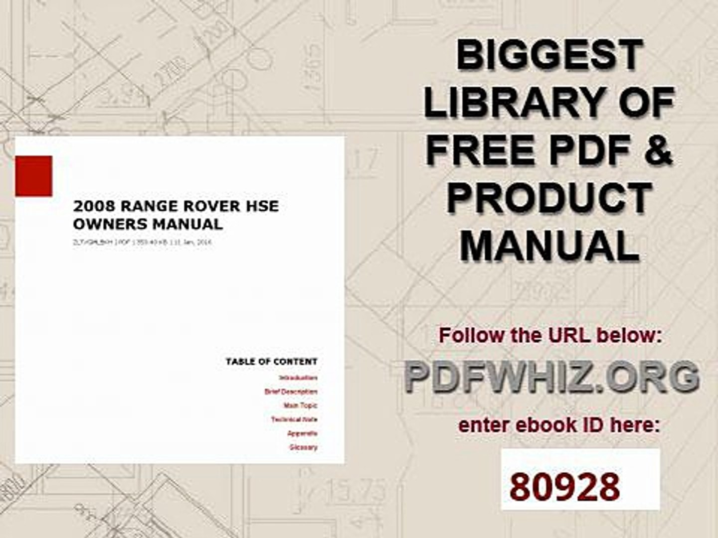2008 RANGE ROVER HSE OWNERS MANUAL