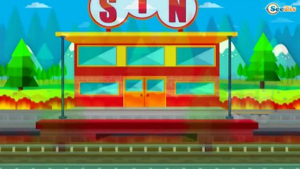 The little Train Cartoons for children - Learn Numbers, Shapes, Colors and More with the Train