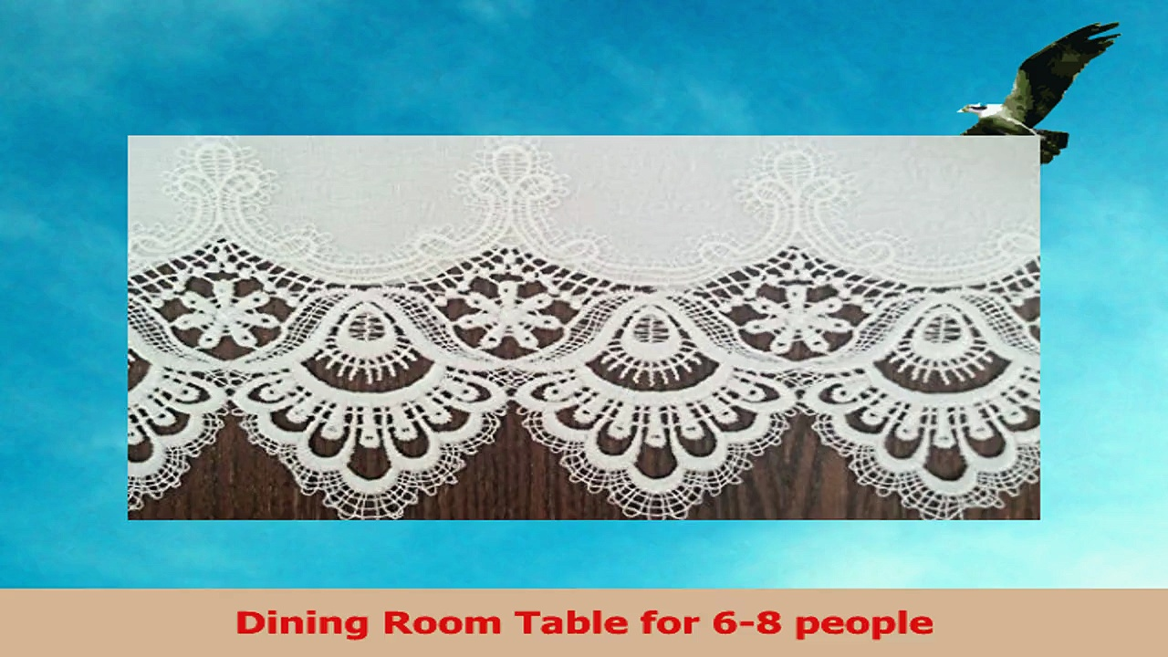 Table Runner with Antique White Winter White European Lace and Fabric Size 54 x 15 f48cbd39