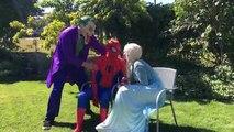Pink Spidergirl Uses Love Arrows On Spiderman vs Elsa Fun Superhero Kids In Real Life In 4K