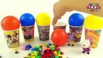 Globos Sorpresa Tazas | Aprender los Colores con Globos Para Niños | Color de Globo | de la Jalea de Un