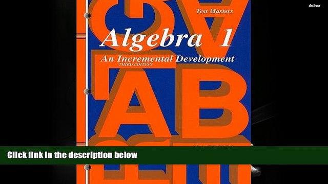 PDF [DOWNLOAD] Saxon Algebra 1: Test Master Third Edition Third Edition Third Edition SAXON