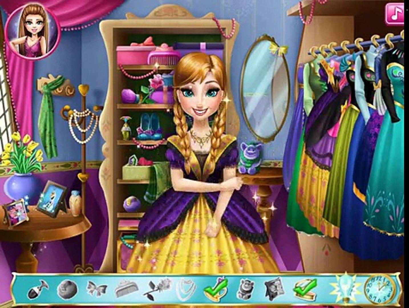 Анна Frozen Игры—Одевалки Анна из Холодное сердце—Онлайн Видео Игры Для Детей Мультфильм new