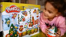 Play Doh and Kinder Surprise Christmas Advent Calendar Day 4 The Peanuts movie Maxi Kinder Eggs
