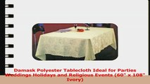 Damask Polyester Tablecloth Ideal for Parties Weddings Holidays and Religious Events 60 x 28be4197