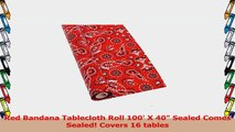 Red Bandana Tablecloth Roll 100 X 40 Sealed Comes Sealed Covers 16 tables a92fcf11
