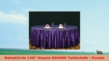 BalsaCircle 120 Sequin ROUND Tablecloth  Purple b672c93a