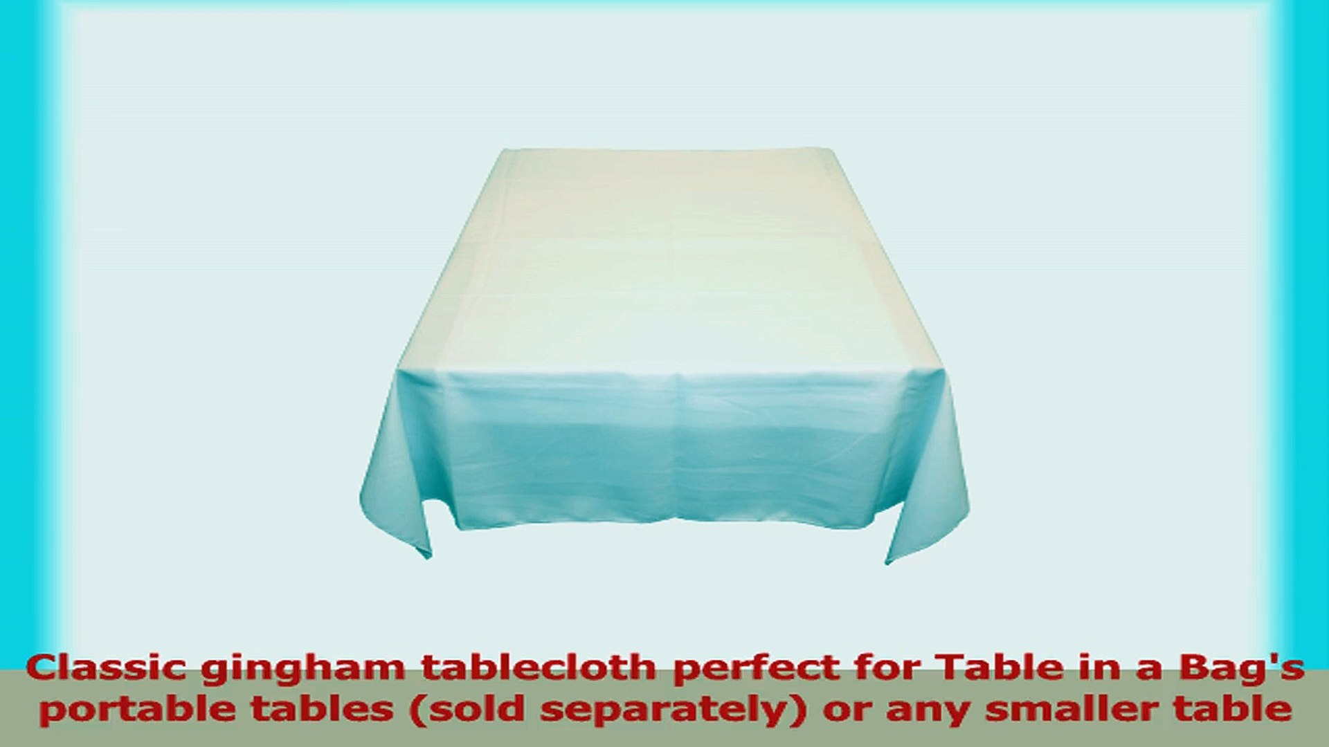 Table in a Bag WHT6060 Square Polyester Tablecloth 60Inch by 60Inch White 73463587