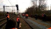 Déraillement d'un train à Louvain