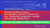 Books Reproductive Health and Cancer in Adolescents and Young Adults (Advances in Experimental
