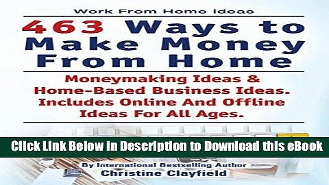 BEST PDF Work From Home Ideas. 463 Ways To Make Money From Home. Moneymaking Ideas   Home Based