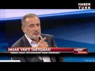 Cübbeli Ahmet Hoca'dan 'imsak vakti' tartışması