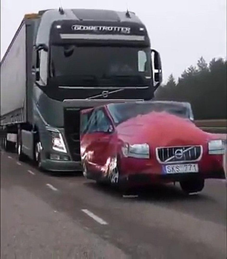 Veja a precisão deste sistema de freio da Volvo