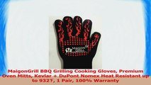 MaigonGrill BBQ Grilling Cooking Gloves Premium Oven Mitts Kevlar  DuPont Nomex Heat 0df35811